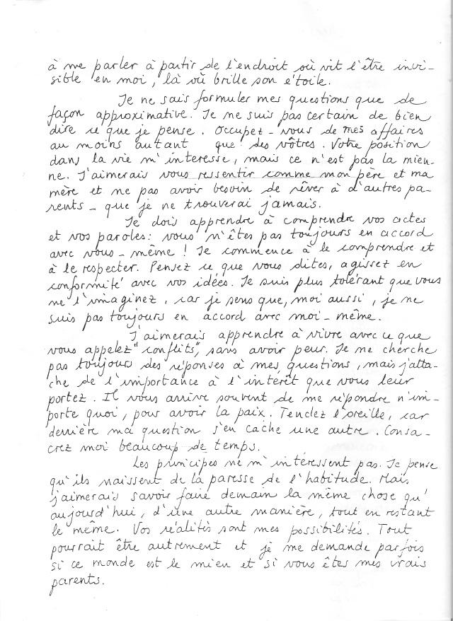 Lettre aux parents JPA 2